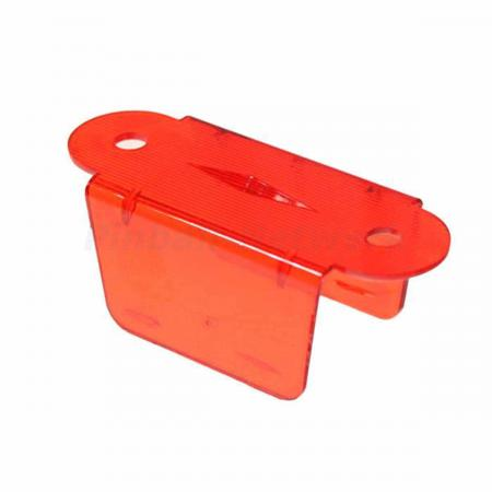 "Lane Guide 2 1/8"", rot/transparent"