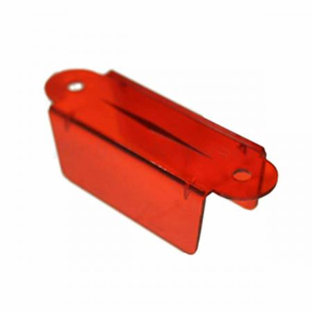 "Lane Guide 2 3/4"", rot/transparent"